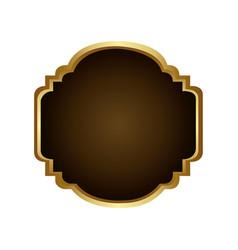 Golden border with decorative heraldic frame vector