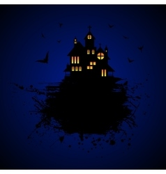 Halloween castle at night vector