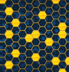 honeycomb background design vector image