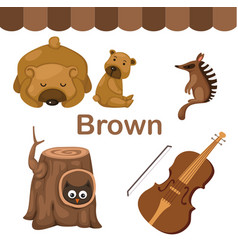 Isolated color brown group vector
