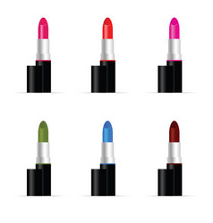 lipstic colored set for woman vector image vector image