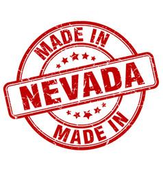 Made in nevada red grunge round stamp vector
