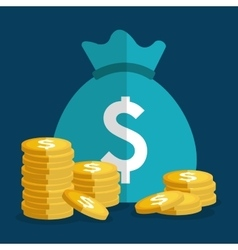 Money saving business and finance design vector image