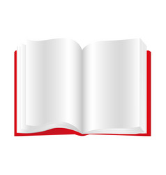 Red book open icon vector