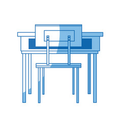 School table and chair furniture class vector