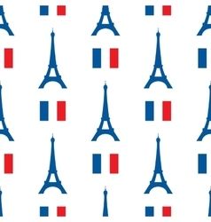 Seamless texture of the eiffel tower and vector
