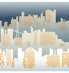 skyline seamless vector image vector image