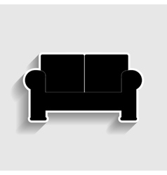 Sofa sign sticker style icon vector