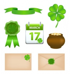 St Patrick's Day symbols vector image vector image