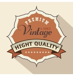 vintage frame quality seal vector image vector image