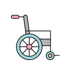 Wheelchair medical equipment disable transport vector