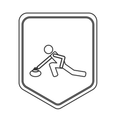 Curling pictogram icon vector