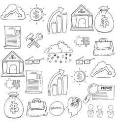 Doodle of element business art vector