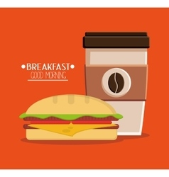 Coffee and breakfast design vector