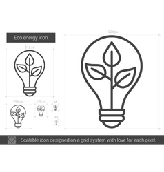 Eco energy line icon vector
