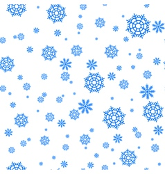 Seamless pattern with snowflakes and snow Retro vector image