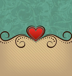 Valentines Day retro elegance background vector image