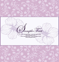 Purple floral invitation vector