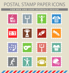 american football simply icons vector image
