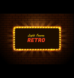 light frame retro vector image
