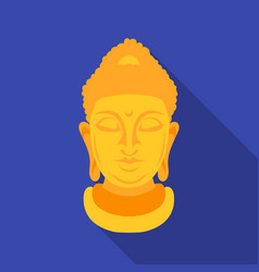 buddha icon in flat style isolated on white vector image