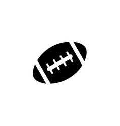 American football ball solid icon college sport vector