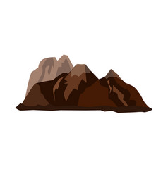 mountain landscape snow nature travel hiking peak vector image