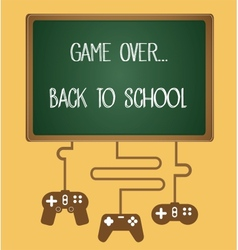 Game over back to school vector