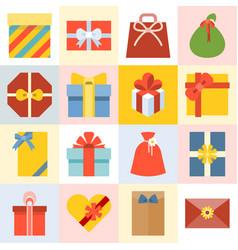 Presents box vector