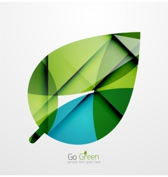 Abstract green leaf concept vector