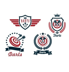Darts heraldry emblems vector