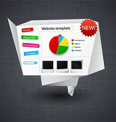Paper website template vector