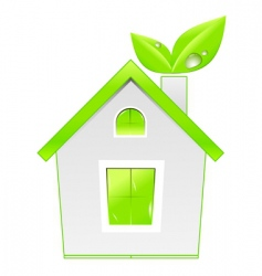 green house icon ecology concept vector image