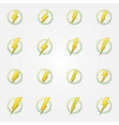 Lightning eco icons concept vector