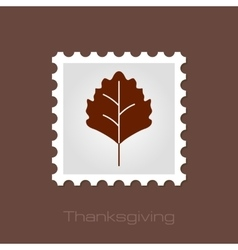 Autumn leaves stamp vector