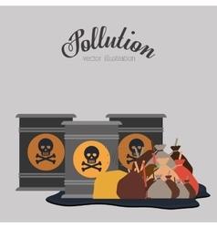 Pollution concept design vector