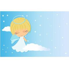 Angel looking over shoulder vector
