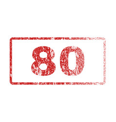 80 rubber stamp vector