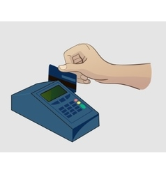 Paying credit card vector