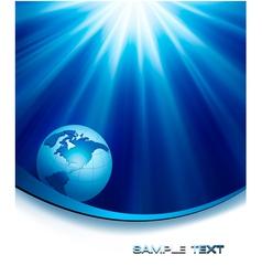 Blue elegant background with globe vector