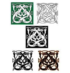 Abstract celtic pattern vector image vector image
