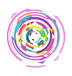 Abstract design geometric colorful spinning retro vector