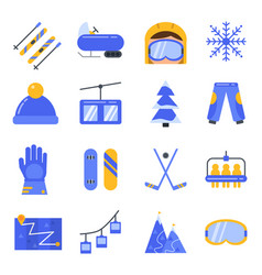 accessories of winter sport icon set in vector image vector image