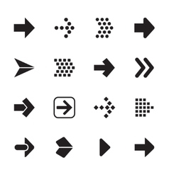 Arrow sign icon set isolated on white background vector image vector image