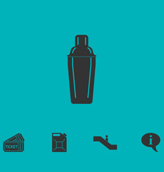 Bar shaker icon flat vector