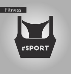Black and white style icon sports top vector
