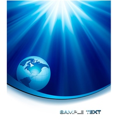 blue elegant background with globe vector image vector image