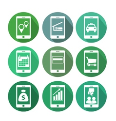 Business transactions using mobile phone vector image vector image