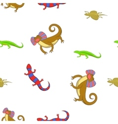Chameleon pattern cartoon style vector