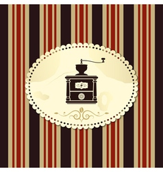 coffee vintage background vector image